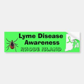 Lyme Disease Awareness Rhode Island Bumper Sticker