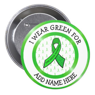 Lyme Disease Awareness Ribbon Support Button
