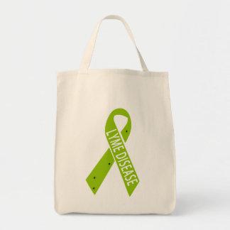 Lyme Disease Awareness Ribbon - Tote Grocery Tote Bag