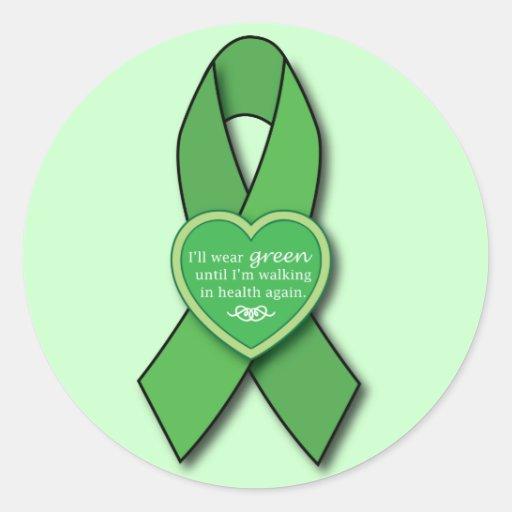 Lyme Disease Awareness Ribbon Walking in Health Stickers