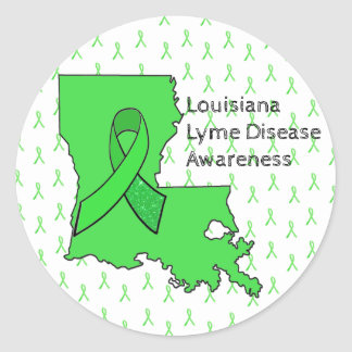 Lyme Disease Awareness Stickers for Louisiana
