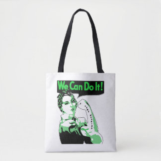 "Lyme Disease awareness ""We Can Do It"" Tote Bag"