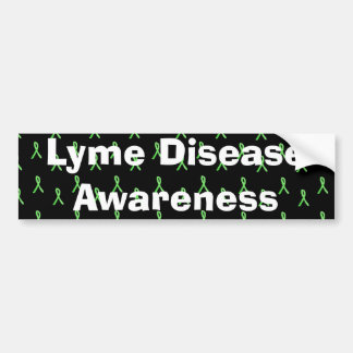 Lyme Disease Awareness with Lyme Ribbons Bumper Bumper Sticker