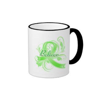 Lyme Disease Believe Flourish Ribbon Ringer Mug