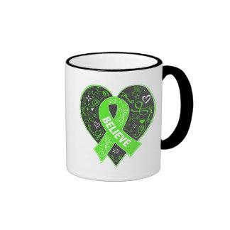 Lyme Disease Believe Ribbon Heart Ringer Mug