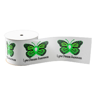 "Lyme Disease Butterfly 3"" Grosgrain Ribbon"