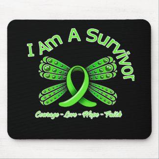 Lyme Disease Butterfly I Am A Survivor Mouse Pads