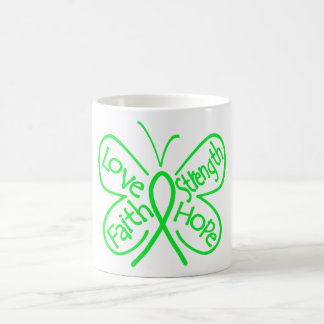 Lyme Disease Butterfly Inspiring Words Basic White Mug