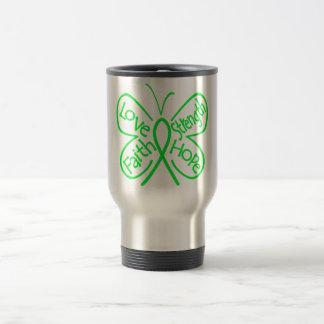 Lyme Disease Butterfly Inspiring Words 15 Oz Stainless Steel Travel Mug
