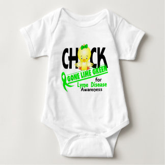 Lyme Disease Chick Gone Lime Green 2 Baby Bodysuit