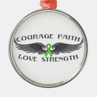 Lyme Disease Courage Faith Wings Christmas Tree Ornaments
