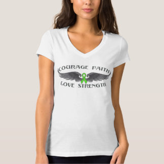 Lyme Disease Courage Faith Wings Tee Shirt