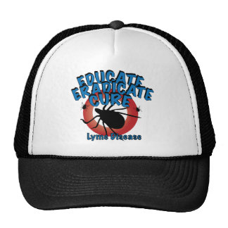 Lyme Disease - Educate, Eradicate, Cure Hats