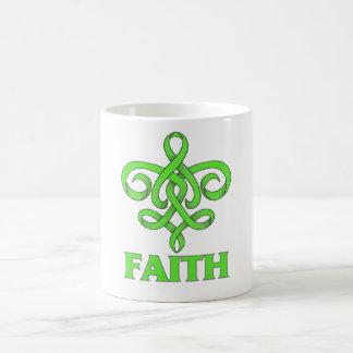 Lyme Disease Faith Fleur de Lis Ribbon Coffee Mug