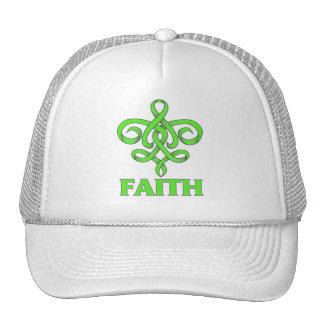 Lyme Disease Faith Fleur de Lis Ribbon Mesh Hat
