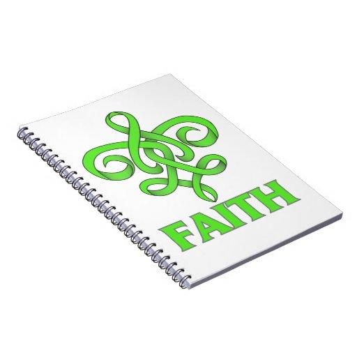 Lyme Disease Faith Fleur de Lis Ribbon Spiral Note Books