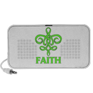 Lyme Disease Faith Fleur de Lis Ribbon Mini Speakers
