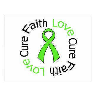Lyme Disease Faith Love Cure v2 Postcard