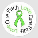 Lyme Disease Faith Love Cure v2 Round Stickers