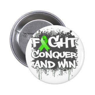 Lyme Disease Fight Conquer and Win Pins