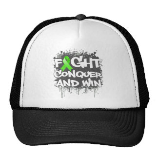 Lyme Disease Fight Conquer and Win Mesh Hat