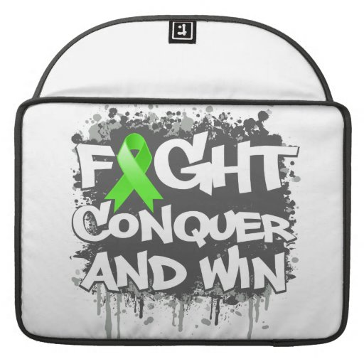 Lyme Disease Fight Conquer and Win Sleeve For MacBook Pro