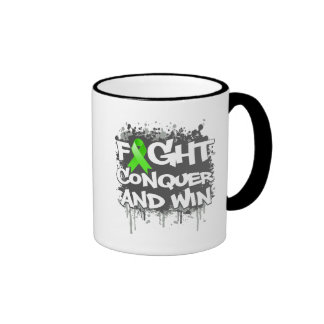 Lyme Disease Fight Conquer and Win Mugs