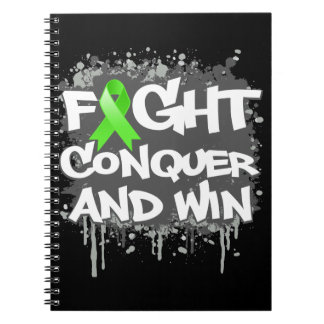 Lyme Disease Fight Conquer and Win Spiral Notebooks