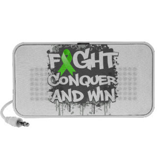 Lyme Disease Fight Conquer and Win Mini Speakers
