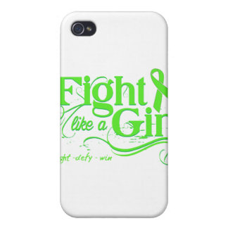 Lyme Disease Fight Like A Girl Elegant iPhone 4/4S Cover