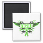 Lyme Disease Fight Like a Girl Wings.png Refrigerator Magnets