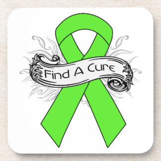 Lyme Disease Find A Cure Ribbon Drink Coaster