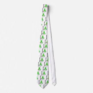 LYME DISEASE Flower Ribbon 3 Tie