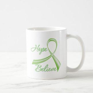 Lyme Disease - Hope Believe Classic White Coffee Mug