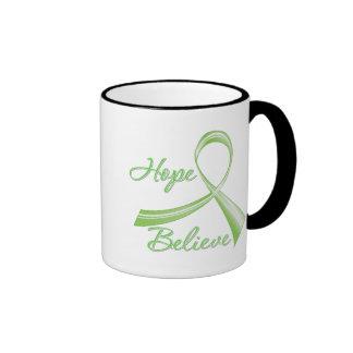 Lyme Disease - Hope Believe Ringer Coffee Mug