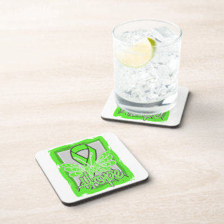 Lyme Disease Hope Butterfly Drink Coaster