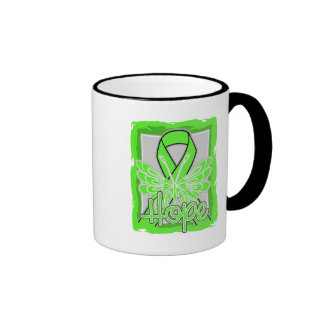 Lyme Disease Hope Butterfly Ringer Coffee Mug