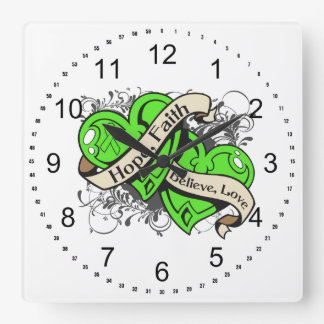 Lyme Disease Hope Faith Dual Hearts Wallclock