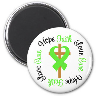 Lyme Disease Hope Faith Love Prayer Cross 6 Cm Round Magnet