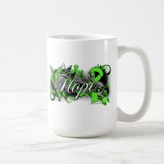 Lyme Disease Hope Garden Ribbon Basic White Mug