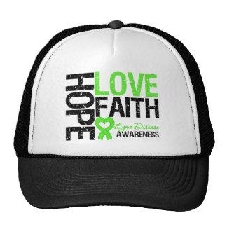 Lyme Disease Hope Love Faith Cap
