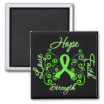 Lyme Disease Hope Motto Butterfly Refrigerator Magnets
