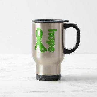 Lyme Disease Hope Ribbon 15 Oz Stainless Steel Travel Mug