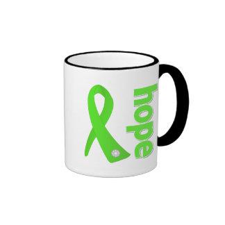 Lyme Disease Hope Ribbon Ringer Coffee Mug