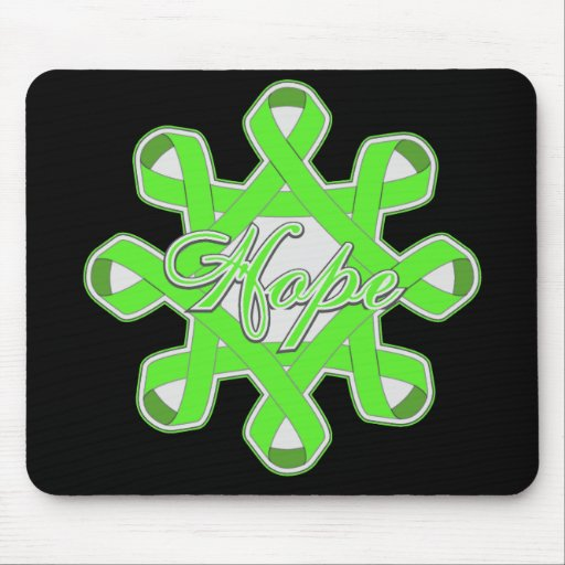 Lyme Disease Hope Unity Ribbons Mouse Pad