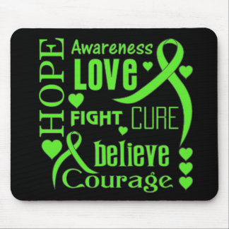 Lyme Disease Hope Words Collage Mouse Pad