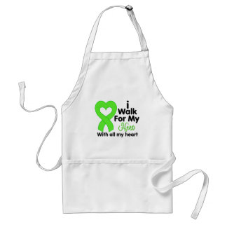 Lyme Disease I Walk For My Hero Adult Apron