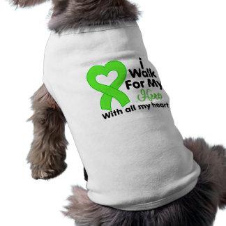 Lyme Disease I Walk For My Hero Pet T-shirt