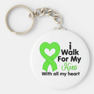 Lyme Disease I Walk For My Hero Keychains