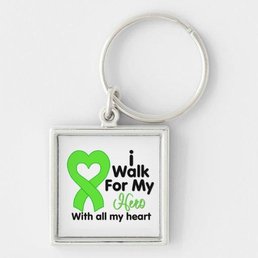 Lyme Disease I Walk For My Hero Key Chains